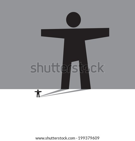 15 minutes of fame or  magnifying spotlight   - stock vector