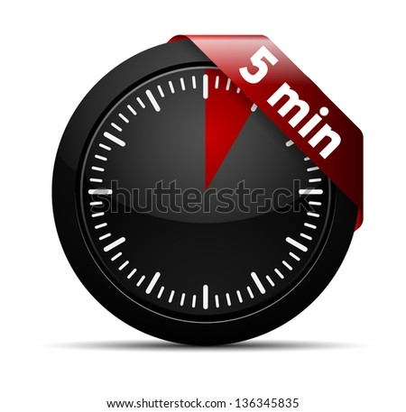 5 Minutes Timer - stock vector