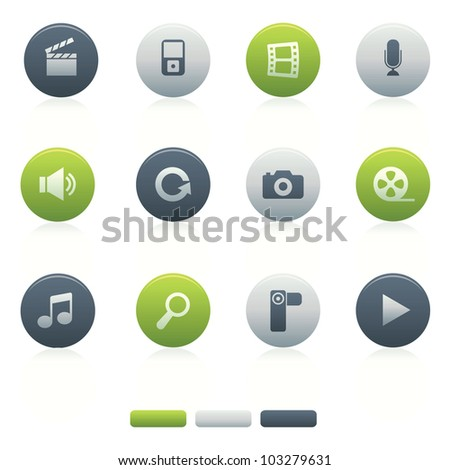 Mixed Circle Multimedia Icons Professional multimedia vector icons set of multimedia for your website, application, or presentation. - stock vector
