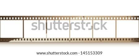 35 mm filmstrip - stock vector