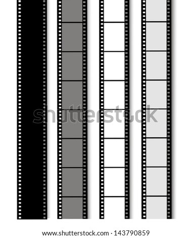 35 mm filmstrip isolated on white background - stock vector