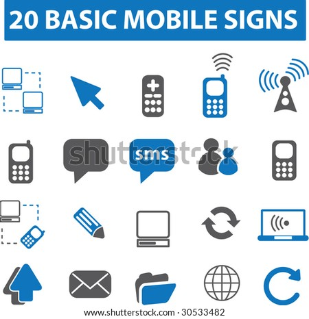 20 mobile icons.vector