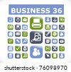 36 modern business glossy 3d buttons, vector - stock vector