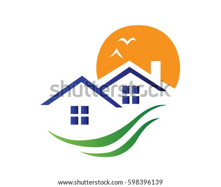 Housing development stock images royalty free images for Modern house logo