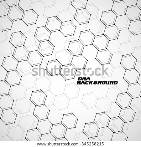 Molecule DNA. Abstract background. Vector illustration. Eps10