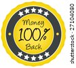 100% Money Back Badge. - stock vector