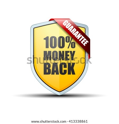 100% Money Back Guarantee shield
