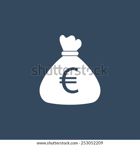 Money bag flat icon. Modern flat icon for Web and Mobile Application. EPS 10.