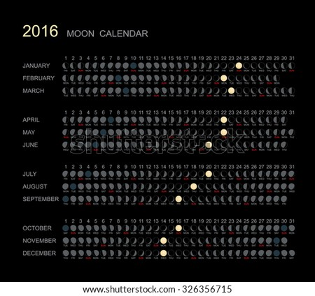 Check the New gallery of calendar 2016 moon phases images and ...