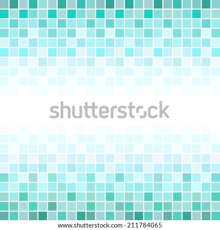 Mosaic abstract geometric patterns - stock vector