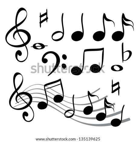 music note icon cartoon vector  illustration
