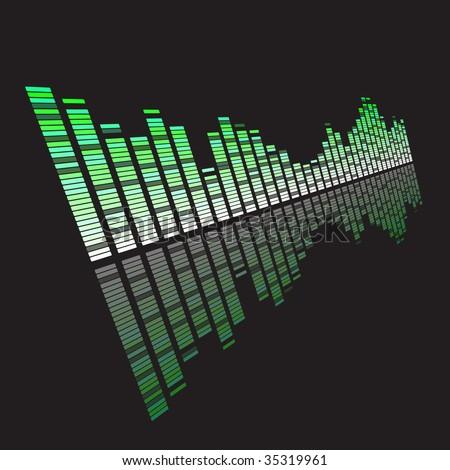 music vibration - stock vector