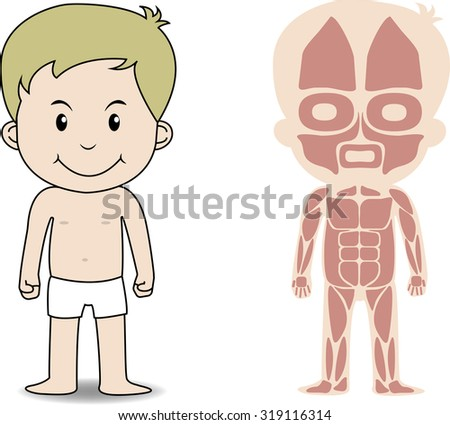 My Body Educational Anatomy Body Organ Stock Vector 319116314 ...