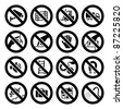 My works (vectors) in this series: http://www.shutterstock.com/sets/74733-set-prohibited-symbols-black.html?rid=512323 - stock vector