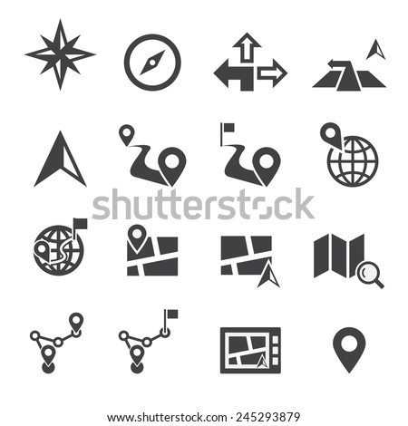 Navigation icon - stock vector