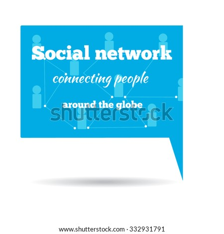 Network Illustration. Social network logo.Stock vector - stock vector