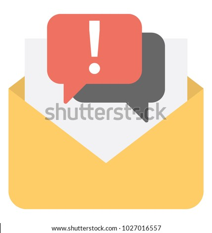 new message alert communication concept flat icon