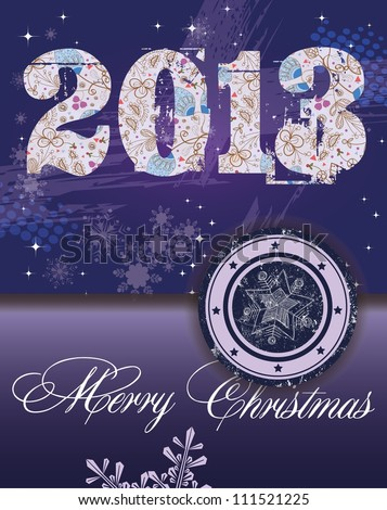 2013 New Year - stock vector