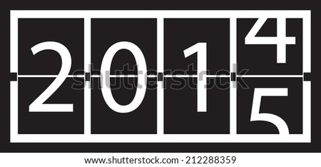 2015 new year - stock vector