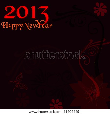 2013 new year background - stock vector