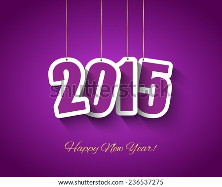 2015 New year background - stock vector