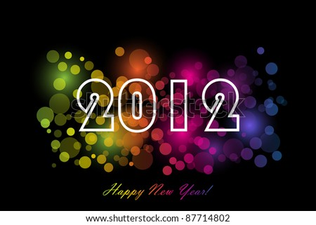 2012 - New year background