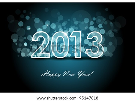 2013 - New year background - stock vector