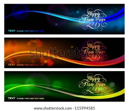 2013 new year card - stock vector