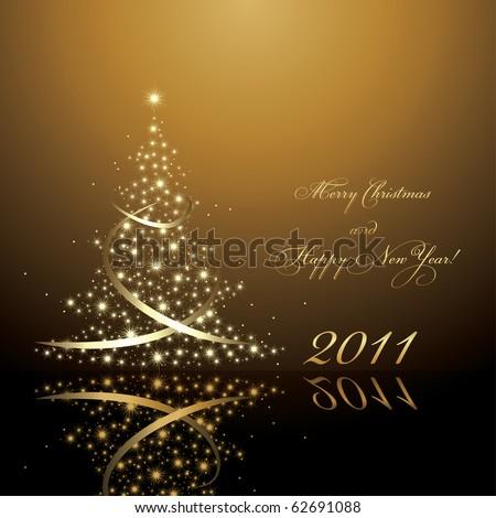 2011 new year card, vector AI8 - stock vector
