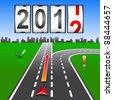 2012 New Year counter, vector. - stock vector