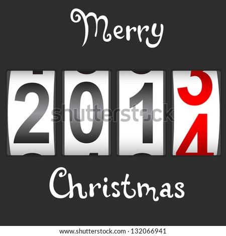 2014 New Year counter, vector. - stock vector