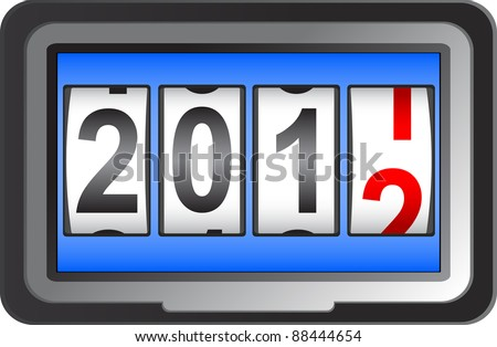 2012 New Year counter, vector. - stock vector
