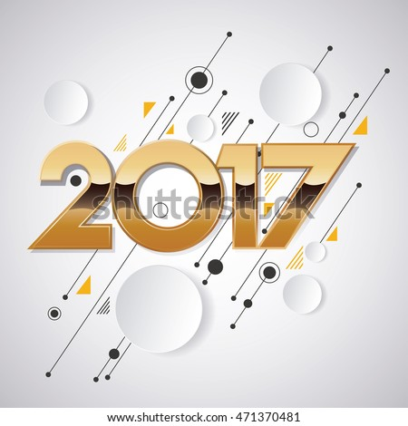 2017 new year creative design for your greetings card, flyers, invitation, posters, brochure, banners, calendar