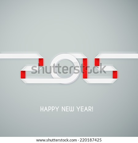 2015 New Year, eps 10 - stock vector