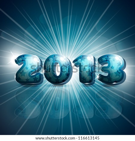 2013 new year festive background - stock vector
