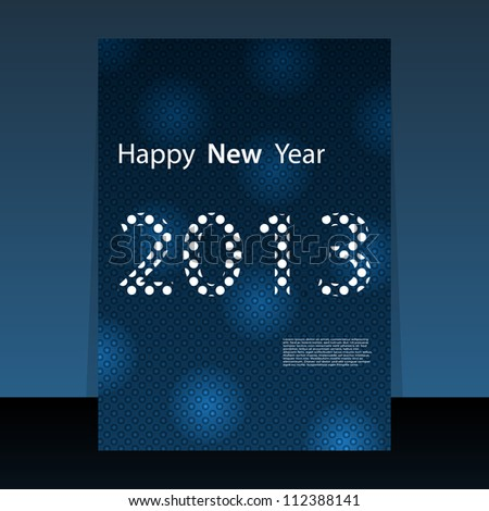 2013 New Year flyer or cover design - stock vector