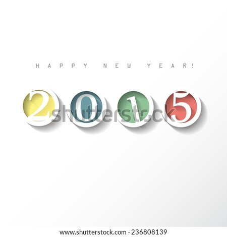 2015 new year greeting card, background, backdrop - stock vector