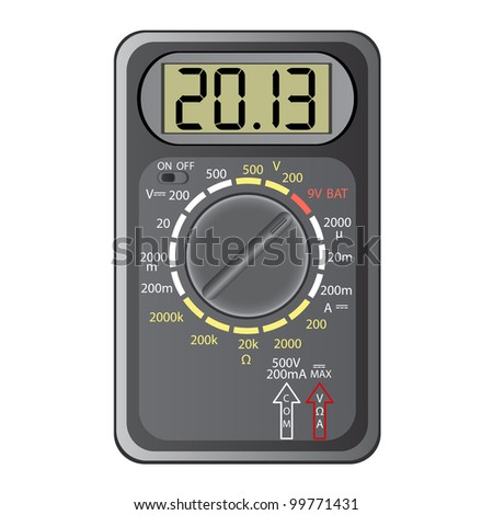 2013 New Year Multimeter  on a white background, vector. - stock vector
