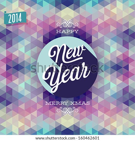 """New Year"" Poster. Vector illustration. - stock vector"