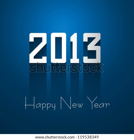 new year 2013 shiny blue colorful background illustrations - stock vector