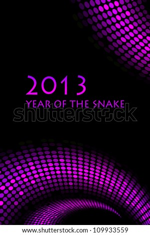 """2013 new year - vector """"snake"""" background - stock vector"""