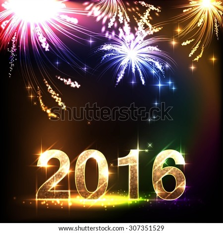 2016 New Years Background - stock vector