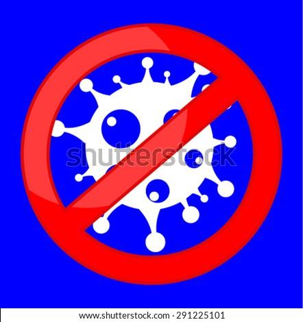 NO bacteria  - stock vector