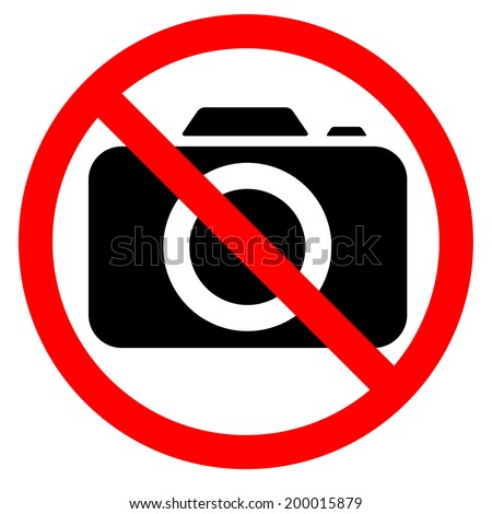 """No photography"" symbol - stock vector"