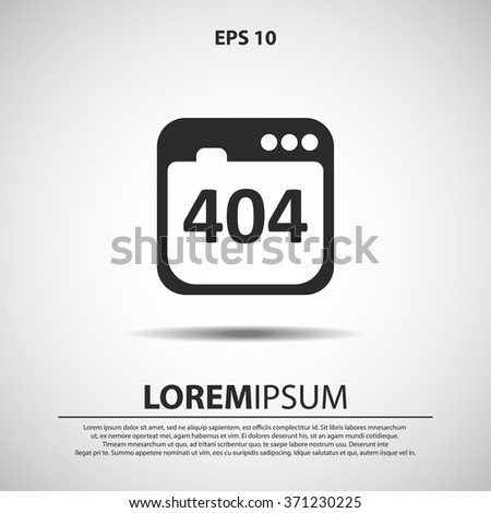 404 not found error icon. vector illustration for web and mobile - stock vector