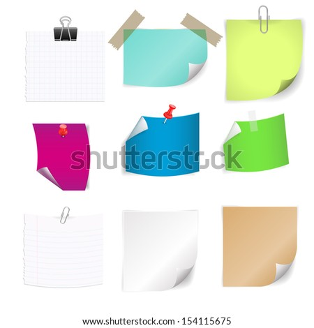 Notes isolated on white