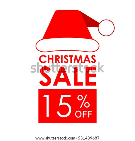 15 off sale christmas sale banner stock vector royalty free