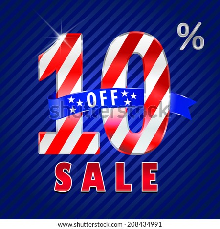 10 off, 10 sale discount, 10% off text- vector EPS10