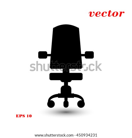 office chair vector icon - Rolling Chair