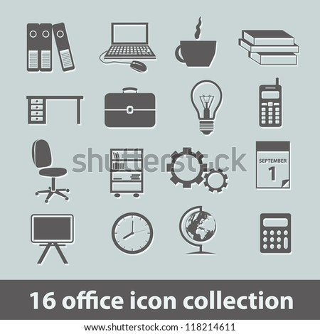 16 office icon collection